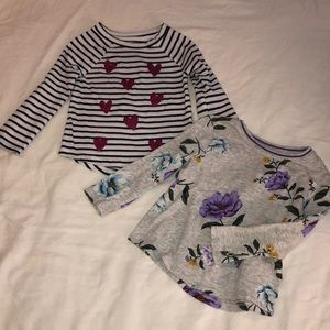 2 long sleeve shirts for toddler girl!